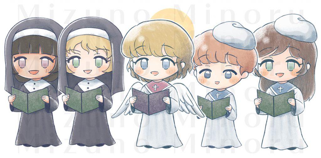 天使と聖歌隊